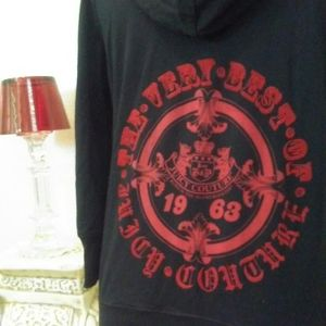 Other - Juicy Couture Black & Red Hooded Sweatshirt +free